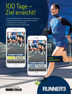 Runner's magazine App Ad