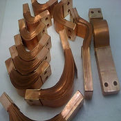 PARENTNashik- Paramount Enterprises Laminated flexible copper shunt connector link made in ETP copper foil required for portble spot welding gun,robotic welding,projection welding,seam welding machines & welder,switchgear industries,electrical panel,electronics, etc.