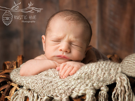 A fun newborn prop session