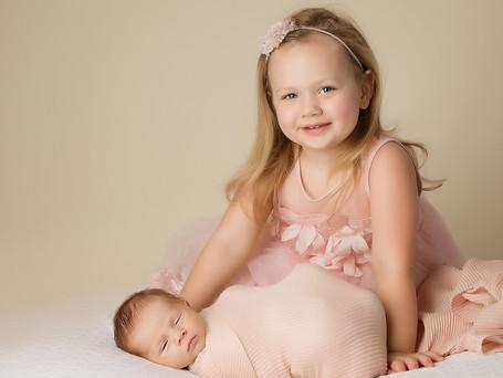 Big sister and baby girl   Carmel Newborn Photography