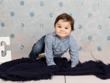 Handsome 1 Year Old Boy | Hudson Valley Cake Smash Photographer