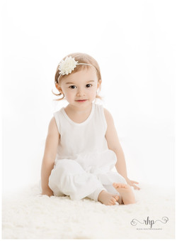 2 year old on white background