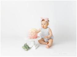 simple 1 year cake smash