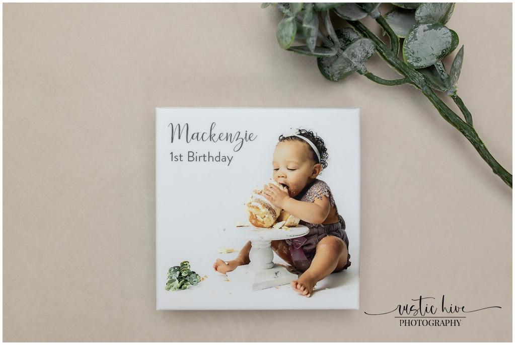 mini accordion album 1st birthday front cover