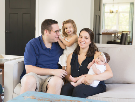 The S Family | In home lifestyle newborn session | Garrison Newborn Photographer