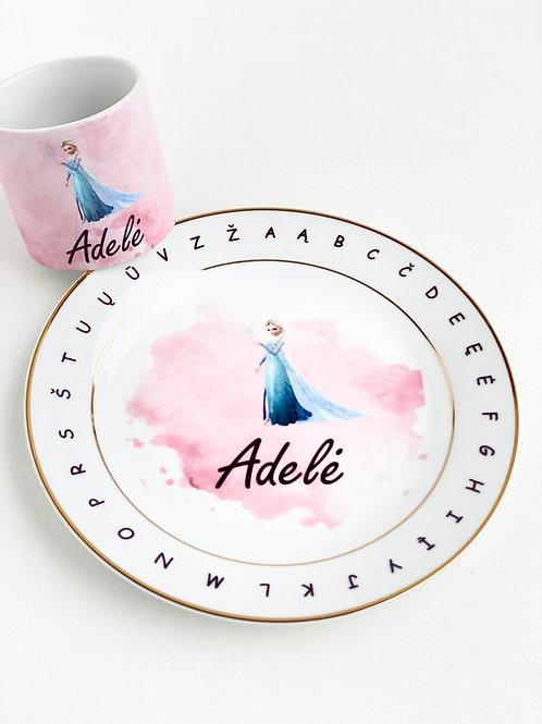 """MEDOOSAKIDS lėkštutės ir puodelio komplektas """"Princesė"""""""