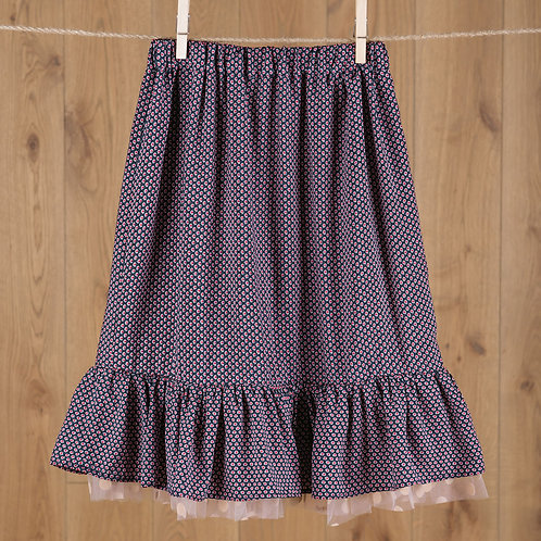 DUST BUNNIES taškuotas sijonas