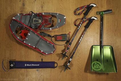 Technische Schneeschuhausrüstung Beispiel Bild von ErlebnisWandern