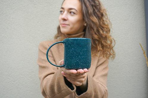 GILĖ BY DOVILĖ žalias kalėdinis puodelis