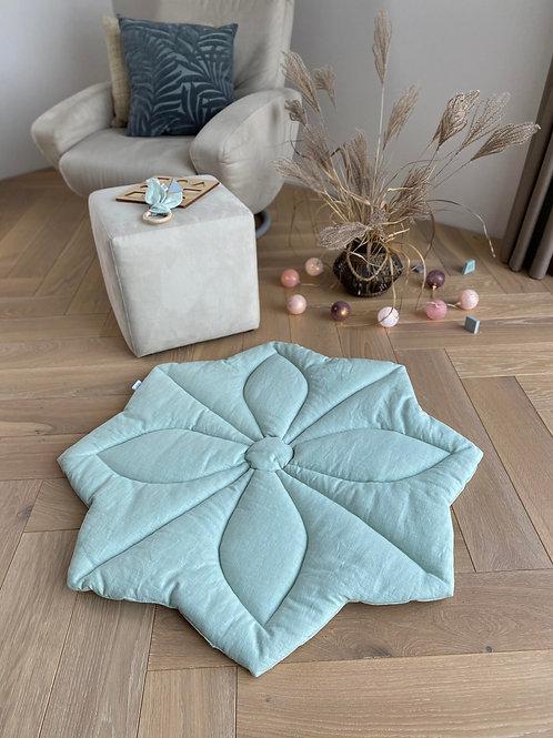 """TILILI rankų darbo natūralaus lino kilimėlis su paminkštinimu """"ŽIEDAS"""""""