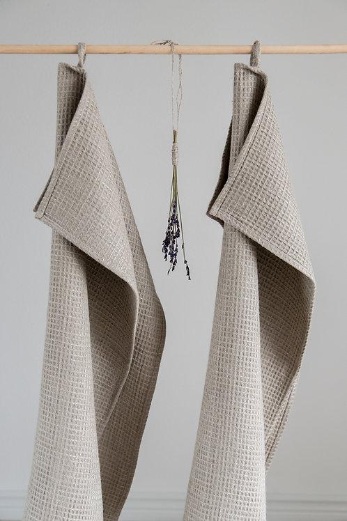 LINO TAKAS vaflinio lino rankšluosčių komplektas.