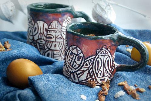 HOUSE OF LLAMAS puodelis su kaukėmis