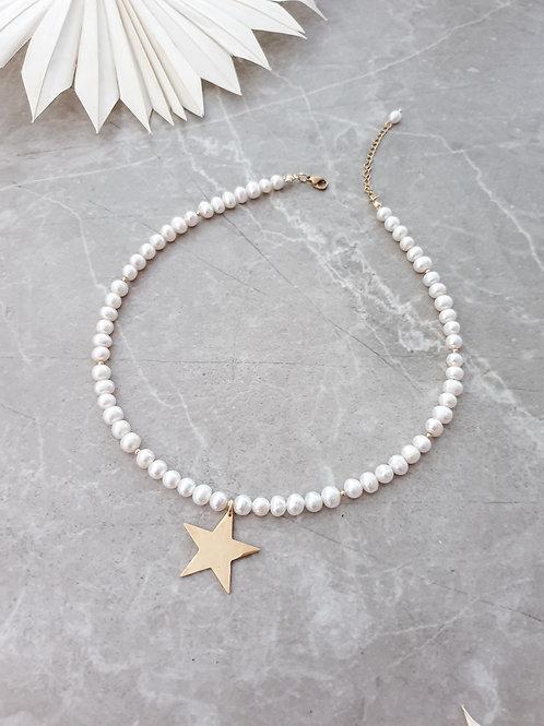 MNK handmade jewelry perlų vėrinys su žvaigždute
