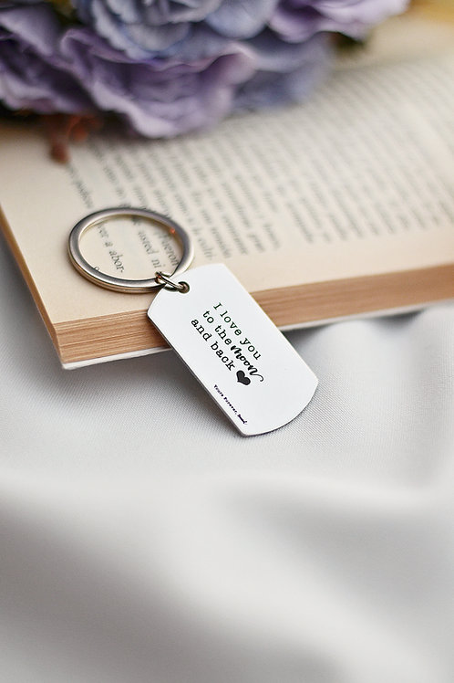 LOVEIN raktų pakabukas su individualiu graviravimu