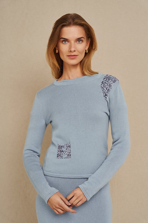 Raminta VM siuvinėtas rankų darbo megztinis