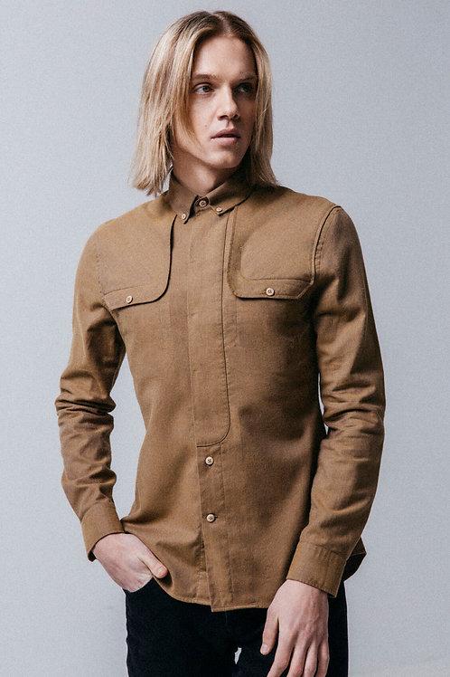 """HUGINN MUNINN  inovatyvaus dizaino marškiniai """"Beige Myvatn"""""""