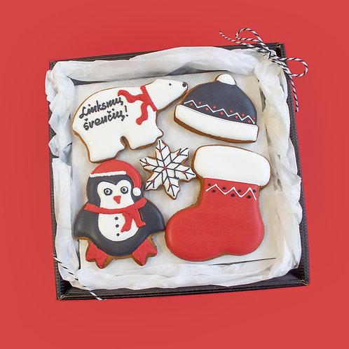 """MEDUOLIŲ NAMAI saldi kalėdinė dovana """"Pingvinas su meška"""""""
