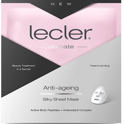 """LECLER stangrinanti  šilkinė lakštinė veido kaukė """"ANTI-AGEING"""""""