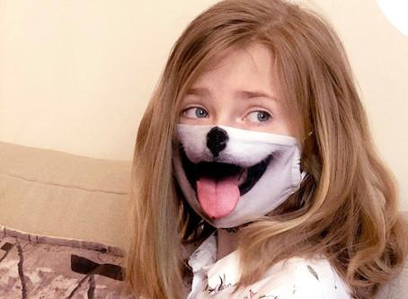 NUOLAIDOS - ryškios, žaismingos ir stilingos Lietuvos kūrėjų veido kaukės vaikams!