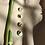 Thumbnail: CARAMEL CERAMICS pistacijų žalios/vanilės CANDY auskarai