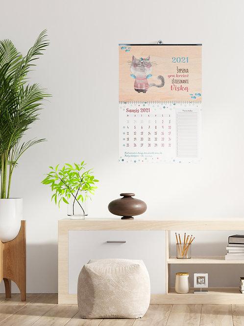 """COZYWOOD medinis sieninis kalendorius """"Atsiminimų Murklė"""""""
