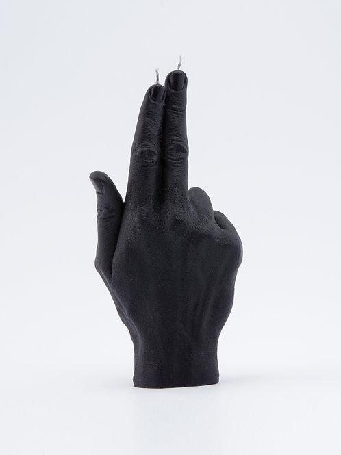 CANDLEHAND Gun Fingers žvakė juoda