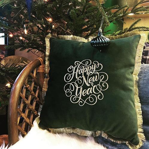 """SEREWORKSHOP siuvinėta rankų darbo pagalvėlė """"Kalėdos"""""""