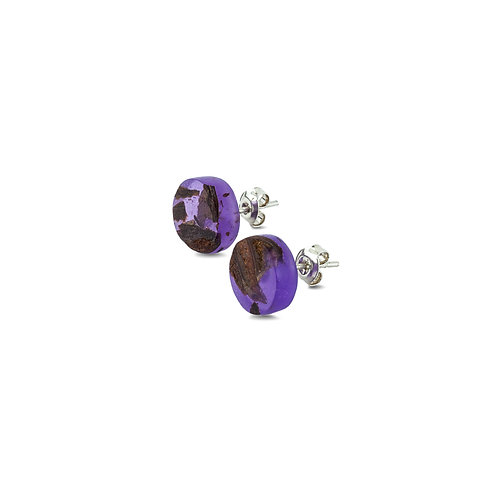"MALKO jewellery auskarai ""POINT AMETHYST PURPLE"""
