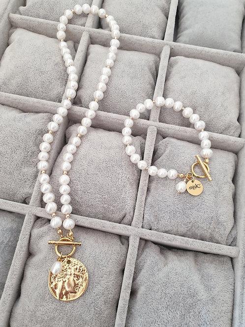 MNK handmade jewelry papuošalų rinkinys su gėlavandeniais perlais