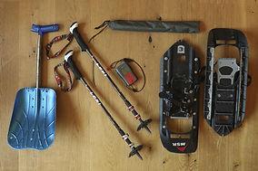 Beispielbild Mietmaterial Schneeschuhe und Lawinenausrüstung Winter für Gäste von ErlebnisWandern