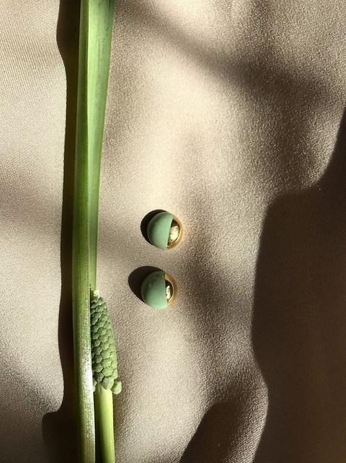 CARAMEL CERAMICS pistacijų žalios/vanilės CANDY auskarai