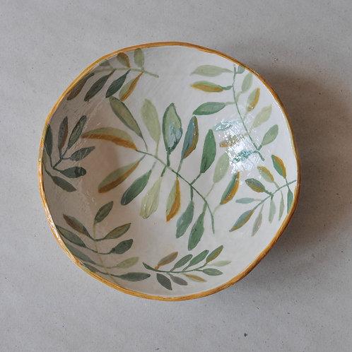 ANOSSTUDIO rankų darbo keramikos dubuo ,,Žydėjimas''