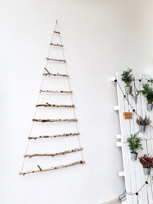 BE SPYGLIŲ kalėdų eglutė. Su lemputėmis