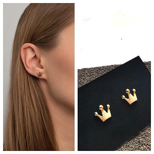 """MIELA minimalistiniai žalvario ir medicininio plieno auskarai """"Nuostabioji"""""""