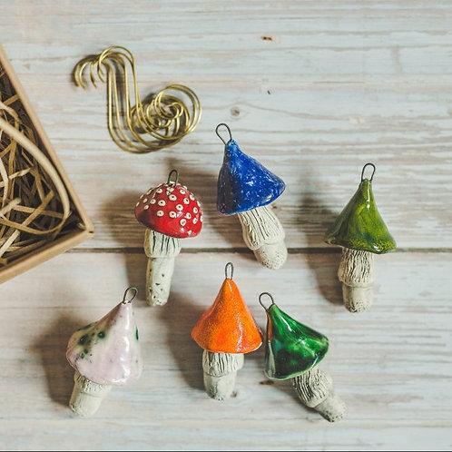 MURDEKO kalėdiniai žaisliukai - įvairiaspalviai grybukai