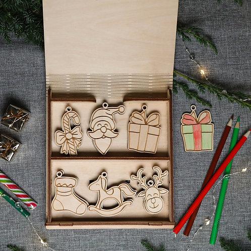 PONAS BEBRAS Medinių kalėdinių žaisliukų rinkinys - Ceres