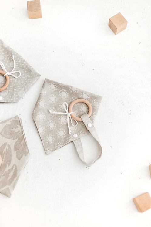 ELEDITA DESIGNS dviguba raštuota kaklaskarė su kramtuku