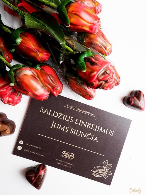 ŠOKOLADO NAMAI šokoladinės rožės