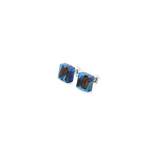 """MALKO jewellery auskarai """"QUADRATIC CLASSIC BLUE"""""""