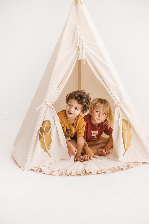MINI CAMP indėniška palapinė su kilimėliu GOLDEN