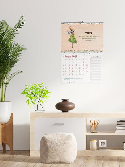 """COZYWOOD medinis sieninis kalendorius """"Namai ten – kur širdis"""""""