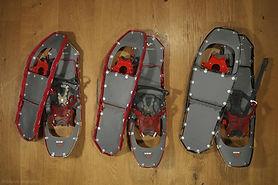 Beispielbild Mietmaterial Schneeschuhe MSR für alpine Unternehmungen oder für das Grobe Winter für Gäste von ErlebnisWandern