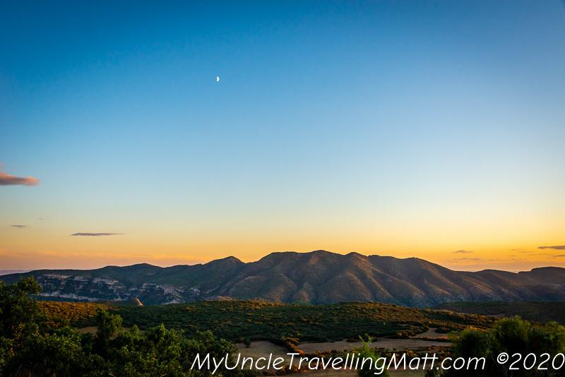 scenery mountains sunset beautiful