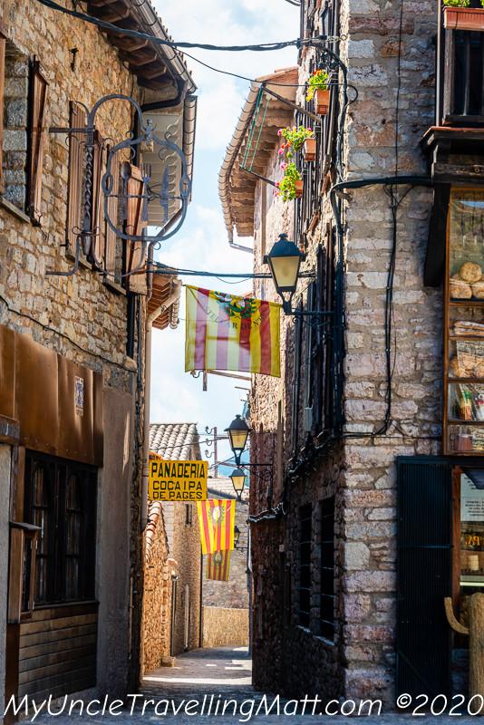 village flags town Castellar de n'Hug
