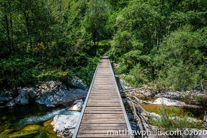 wooden bridge river