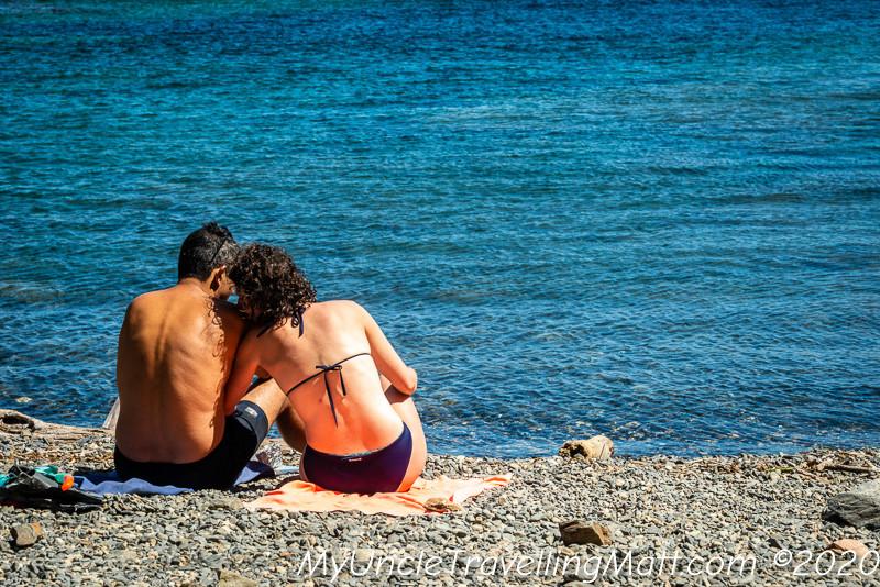 Mediterranean playa beach friends