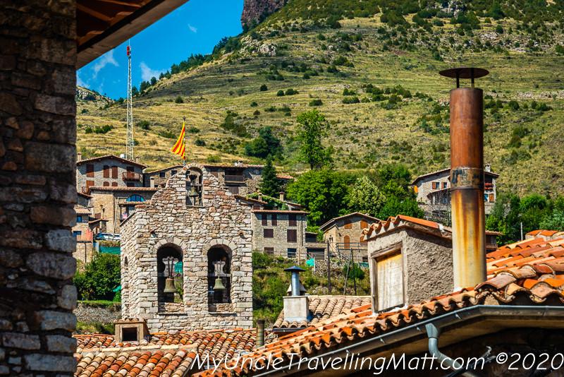 rooftops tiles countryside village Castellar de n'Hug