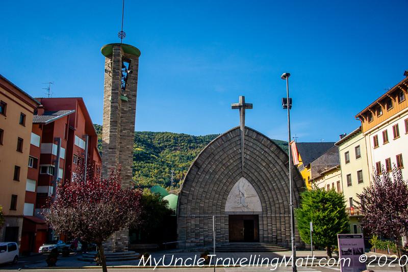 church sunday El Pont de Suert village