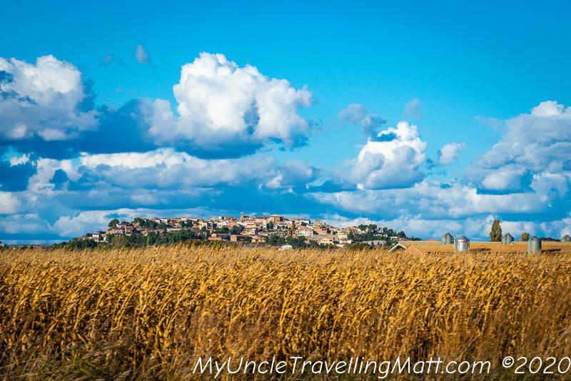 lleida countryside hills wheat fields