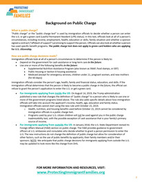 The new public charge rules affecting many immigrant families.